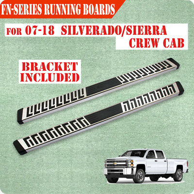 "For 14-16 Chevy Silverado crew Cab 6"" Nerf Bar Running Board Step chrome S/S"