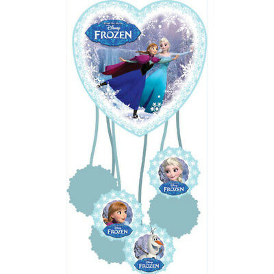 Disney Frozen Party Heart Shaped Pull String Piñata Bag