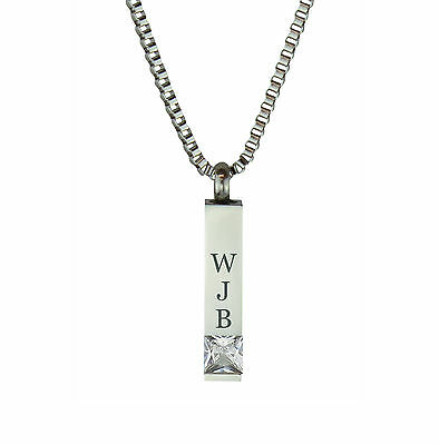 Personalised Quantum Crystal Urn Pendant Cremation Jewellery-Engraving