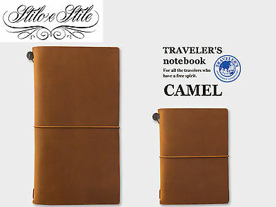 Traveler's Notebook Camel | Regular e Passport Size | Traveler's Company Midori