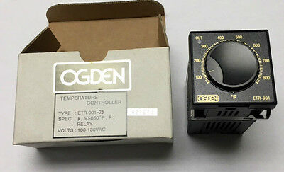 Ogden ETR-901-23 Analog Temperature Controller,Type K, 50 to 850 F