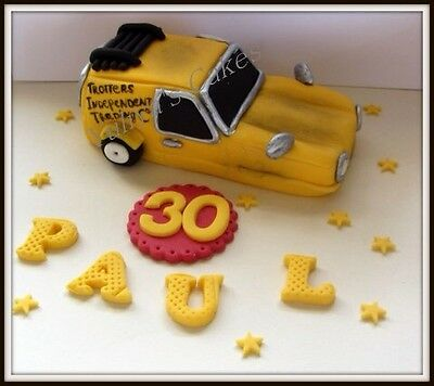 Edible Only Fools and Horses car cake topper,birthday,sugarpaste decoration