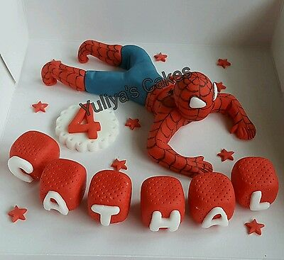 Edible spiderman cake topper,super hero/heroes,marvel,icing decoration, birthday