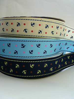 """Anchor Grosgrain Ribbon 1"""" sold by 1 metre"""