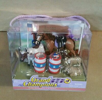 Grand Champions Horse Rodeo Playset Mini Figures in unopened original Package