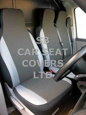 To Fit Ford Transit Custom Van Seat Covers Swb 154 Fabric+Light Grey Trim 1S+1D