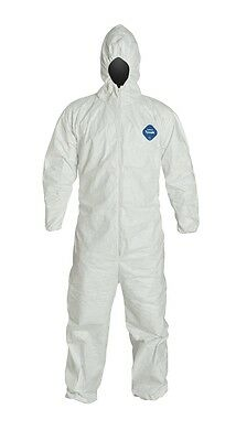 DuPont Tyvek Protective Coverall with Hood with Safety Instructions