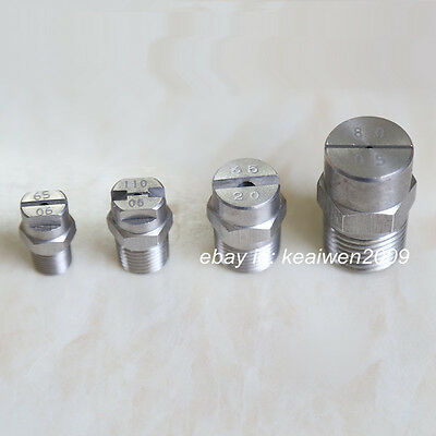 """5pcs SS304 Stainless Steel Sector Spray Nozzle 1/4"""" bspt Jet Angles 65 Washing"""