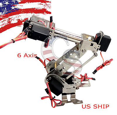 R2 Fully Assembled 6 Axis Mechanical Robotic Arm Clamp for Arduino, Raspberry