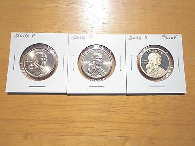 2016 P D S Sacagawea Dollar Proof Native American 3 Coin Set Lot