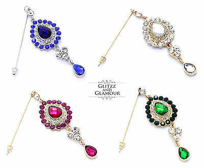 Diamante Hijab Pin Brooch Niqab Burqa Scarf Pin Jewellery Lots Of Colours