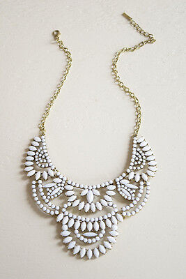 Designer Inspired White Bib Necklace - Fashion Necklace for Women