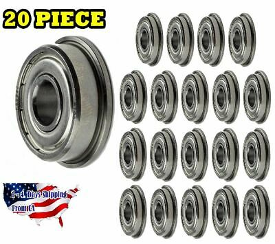 F608-ZZ Flange Ball Bearing Dual Sided Metal Shielded Deep Groove (20PCS)