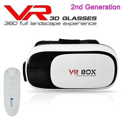 VR BOX Gen 2nd Version 3D Glasses Virtual Reality Headset + Bluetooth Controller