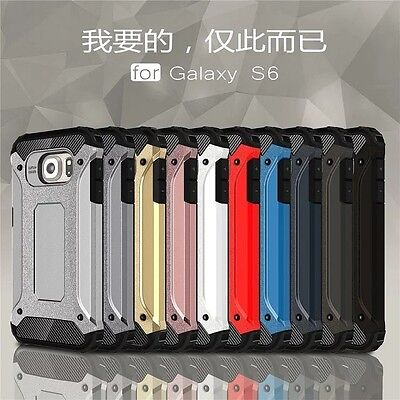 10pcs/lot Dual Layer ShockProof Tough Armor Hybrid Case for Samsung Galaxy S6