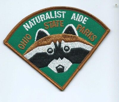 Naturalist Aide Ohio State Parks employee/worker patch 3-1/2 X 4-3/8