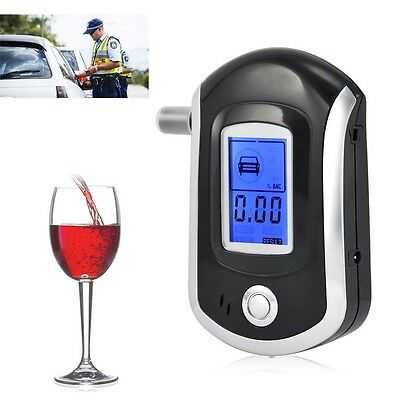 Police Digital Alcohol Breath Tester Analyzer Breathalyzer Breathalyser LCD UK