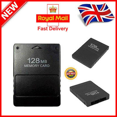 NEW 128MB PS2 Memory Card Save Game Data Stick Module Sony For Playstation 2 UK