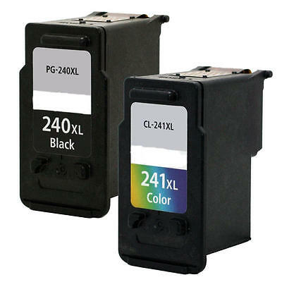2PK Ink for Canon PG-240XL CL-241XL MG3222 MG3520 MG3620 MG4120 MG4220 MX372