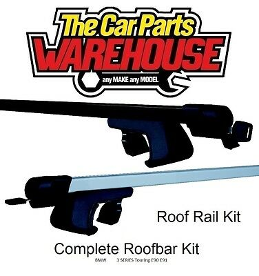 Full Roof Rack Bar Kit SUM500 Mountney WITH RAILS ~ BMW 3 SERIES Touring E90 E91