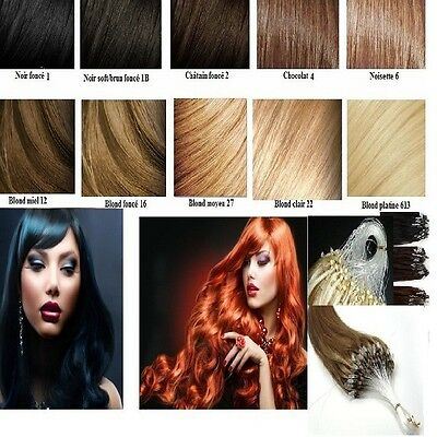 50 100 150 200 Extensions A Froid Easy Loop Cheveux Naturels Loops Remy 49-60 Cm