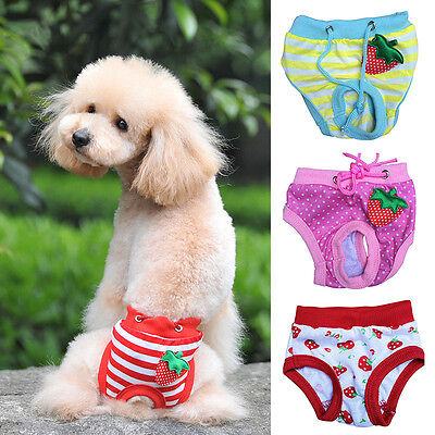 Cotton Pet Dog Physiological Sanitary Puppy Short Panty Pant Diaper Underwear