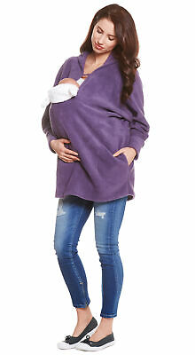 3in1 - Trageponcho / Umstandspulli Poncho Umstandsponcho Jacke Fleece be! mama