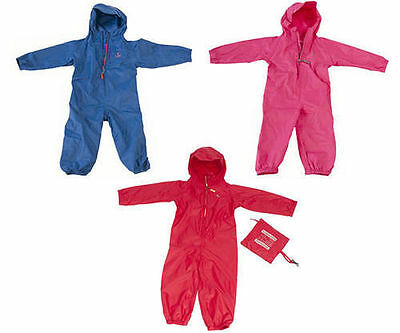 Toddlers Childrens Kids Hippychick Waterproof All In One Packasuit Suit 1-4years