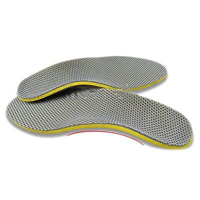 CY Comfortable Orthotic Shoes Insoles Inserts High Arch Support Pad yellow+Gray