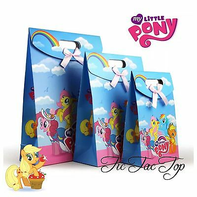 6x My Little Pony PAPER LOOT LOLLY GIFT BAG Favor Card Party Supplies