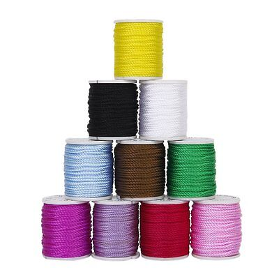 10 Rolls Nylon Beading Thread Cord for DIY Jewellery Making Mixed Colors 1mm PK