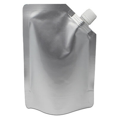Mylar Foil Spout Bags Stand Up Pouches Doypack Packaging Pure Aluminum Beverage