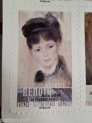 FRANCE 2016, timbre AUTOADHESIF, ART TABLEAU RENOIR, PAINTING MNH STAMP
