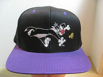 Vintage Rare Hat- Sylvester Embroidered Ball Cap- Black w/ Purple Brim - 1993