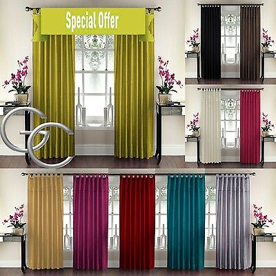 Interior Home Sequins Panel Tab Top Embroidered Vertical Layered Window Curtain
