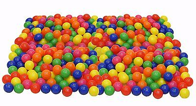 Pack of 100 Pieces Crush Proof Plastic Colorful Balls Play Pen Kiddie Pool Kids