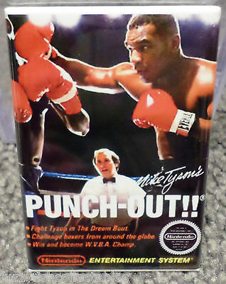 "Mike Tyson's Punch Out Nintendo Vintage Game Box  2"" x 3"" Refrigerator MAGNET 1"