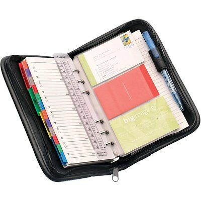 Falcon Personal Organiser/diary Black Leatherette Travel Portfolio Great Gift