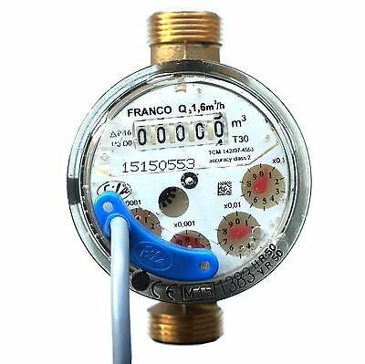 FILA HYBRID COLD OR HOT WATER METER WITH  PULSE EMITTER  1.6m3/h ANTIMAGNETIC