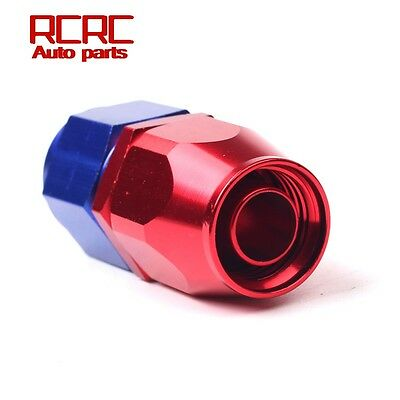 An6 6An Straight Swivel Braided Fuel Oil Hose End Fitting Adapter Red Blue
