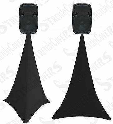 BLACK  spandex lycra speaker stand scrim ,dj tripod cover single or double sided