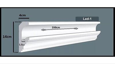 Uplighter Coving/Cornice 30meter Quality XPS-Polystyrene LED-1  FAST DELIVERY