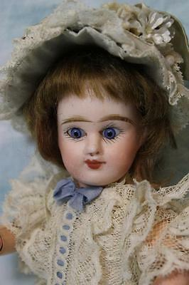 """Antique 9"""" ED French Bisque Denamur Doll Size 1 Depose Paris French Jointed body"""