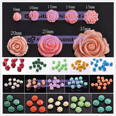 Coral Rose Lotus Spacer Loose Beads 6mm 8mm 10mm 12mm 14mm 15mm 20mm 25mm 35mm