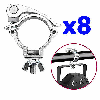 8 x Quick Lock O Clamp Heavy Duty 220lb Aluminum DJ Stage Light Hook Truss Mount