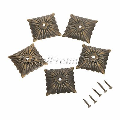 100pcs Square Bronze Antique Upholstery Nails Tack Studs Furniture Decorative