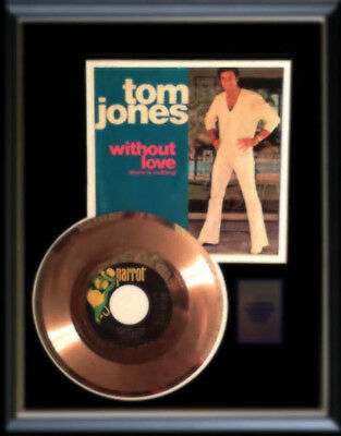 Tom Jones Gold Record Disc 45 Rpm Without Love Rare !!