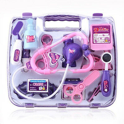 NEW Girl Nurse Doctor Pretend Play Toy Medical Kit Play Set Junior Kids Baby