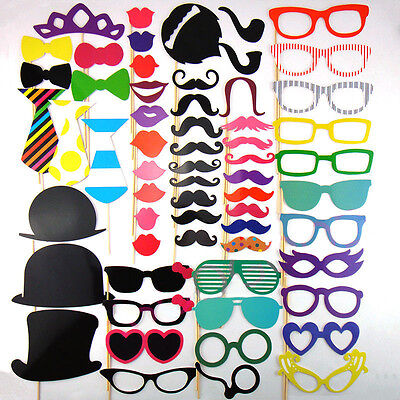 Funny Photo Booth Props Moustache on A Stick Weddings Christmas Birthday Party