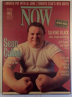 "Sean Cullen Canadian Comedian ""NOW Magazine"" Plaque. Corky & Juice Pigs Comedy"